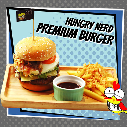 Hungry Nerd Premium Burger
